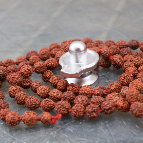 Parad with Panchmukhi Rudraksha Mala