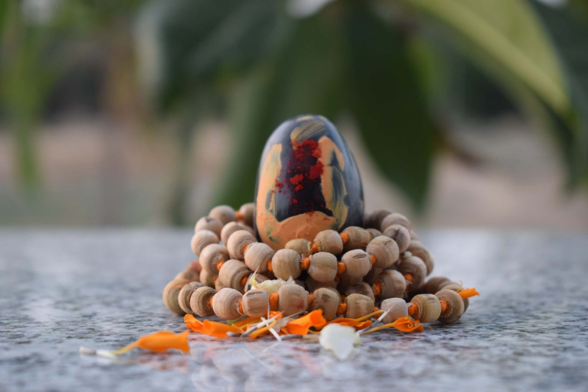 Shaligram with Tulsi Mala