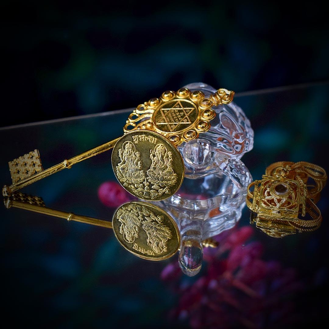 Buy Original Ashta Lakshmi Kavach + Coin + Kuber Kunji + Crystal Kachua Online