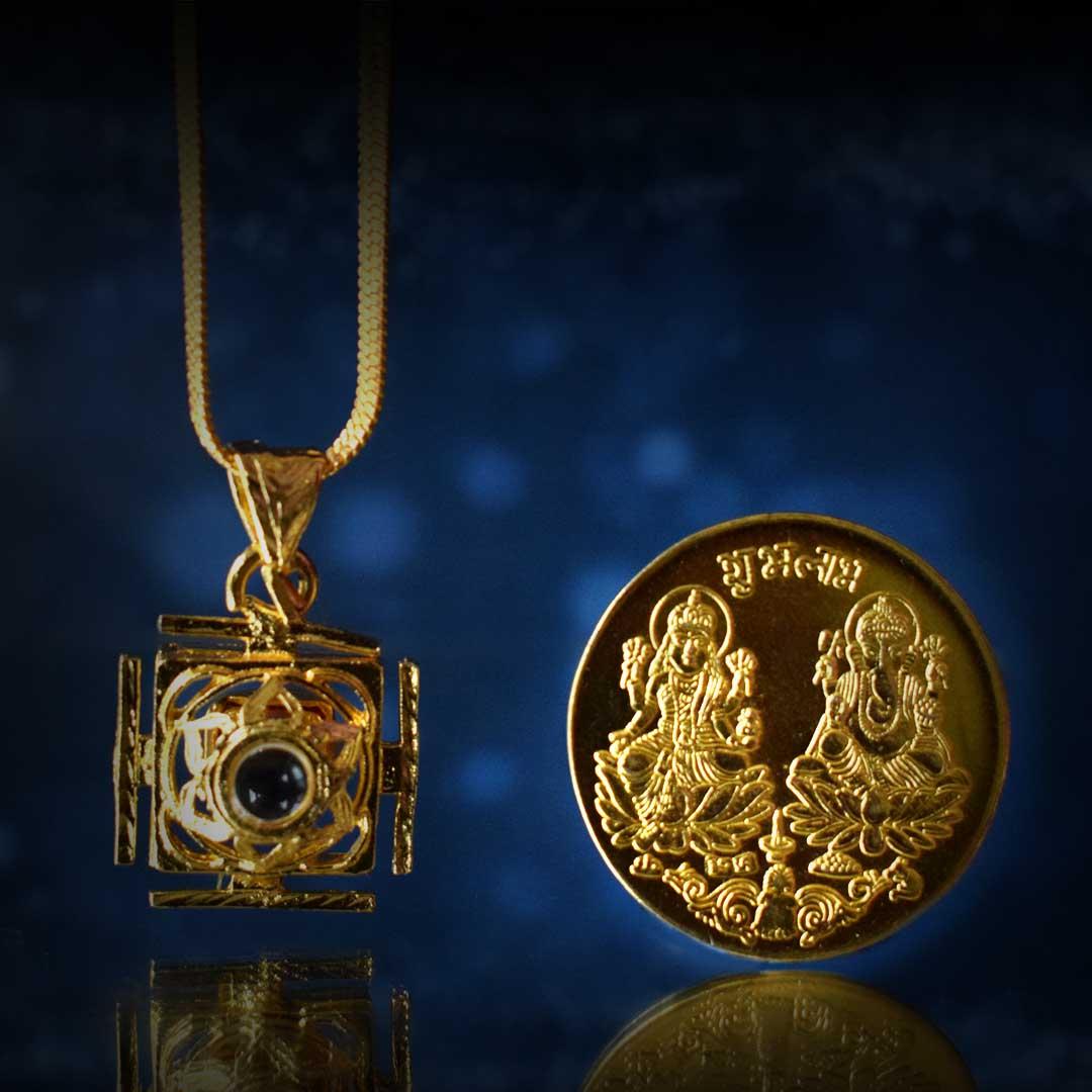 Buy Ashta Lakshmi Kavach + Laxmi coin Combo Online