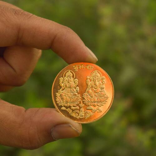 Lakshmi Gold coin