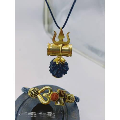 OM shiv Trishul Bracelet with Mahakal Kavach