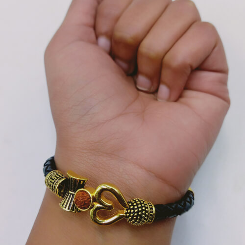 OM shiv Trishul Bracelet with Mahakal Kavach 1