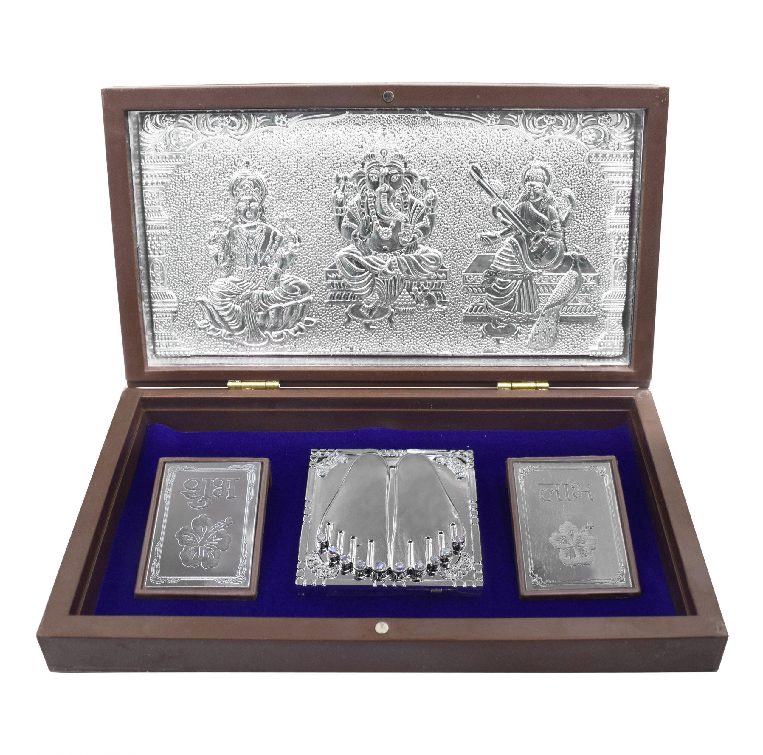 Silver Shubh Laabh Lakshmi Box