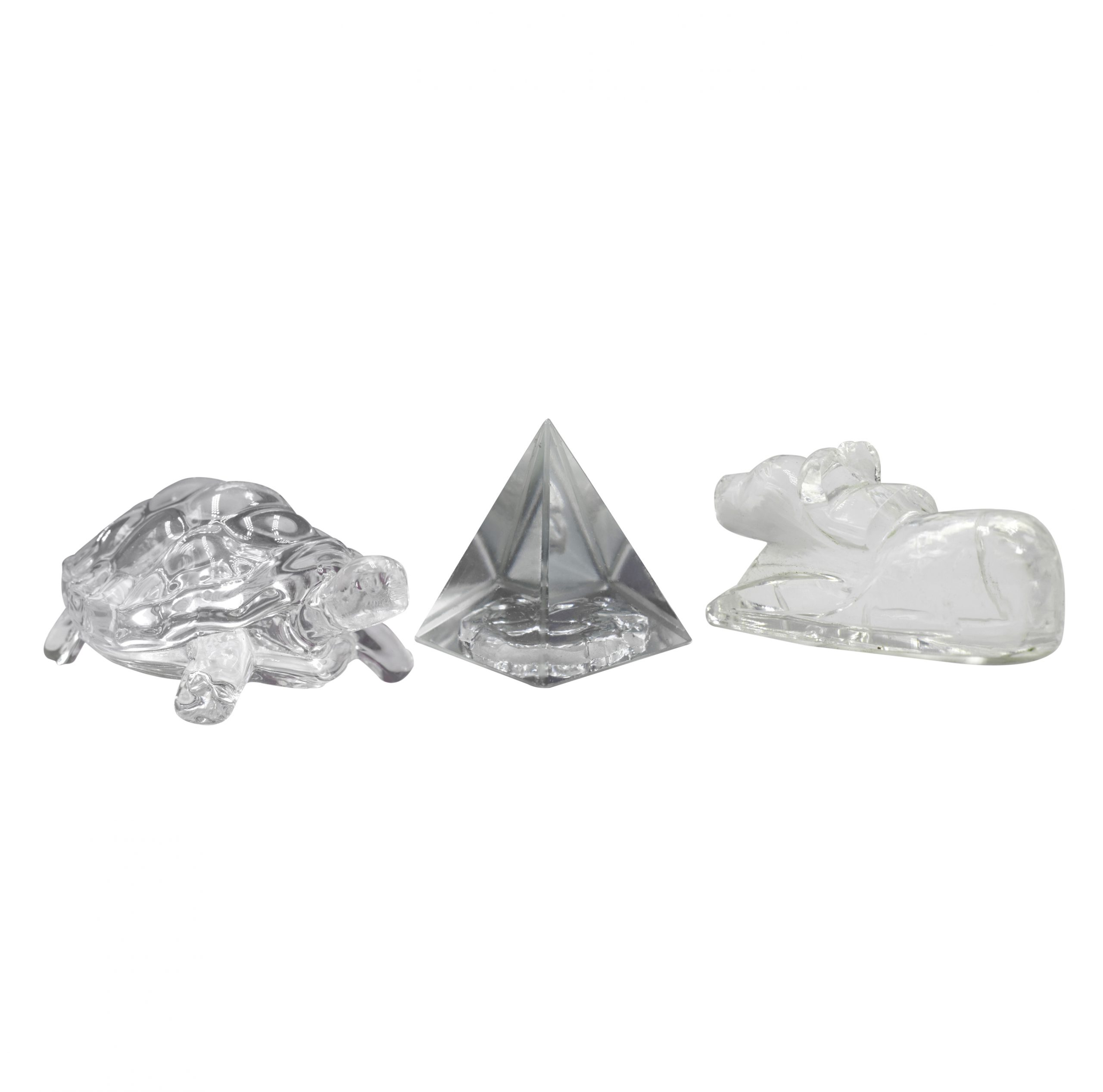 Buy Combo of Crystal (Nandi + Ganesh Pyramid + Turtle) Online