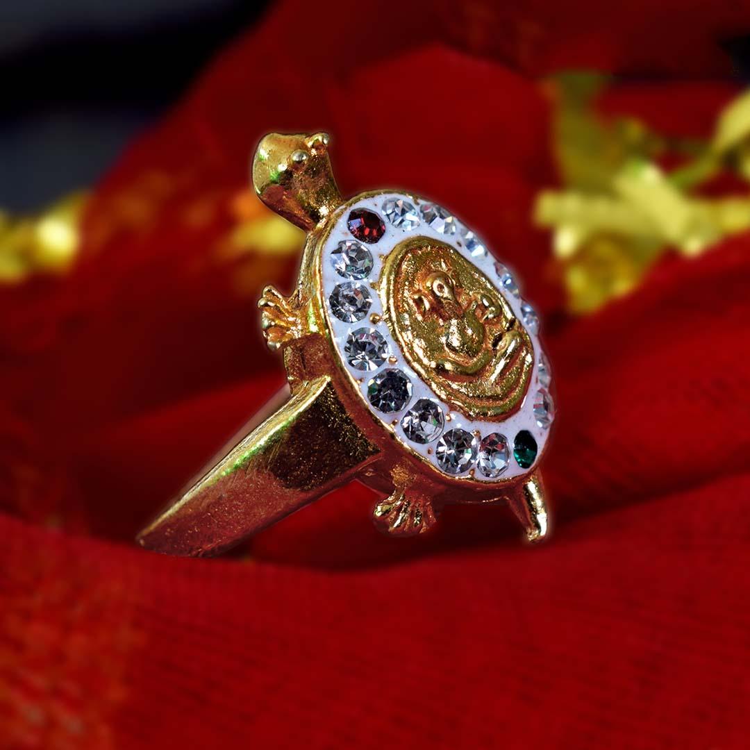 Ganesh + Meru Turtle Ring