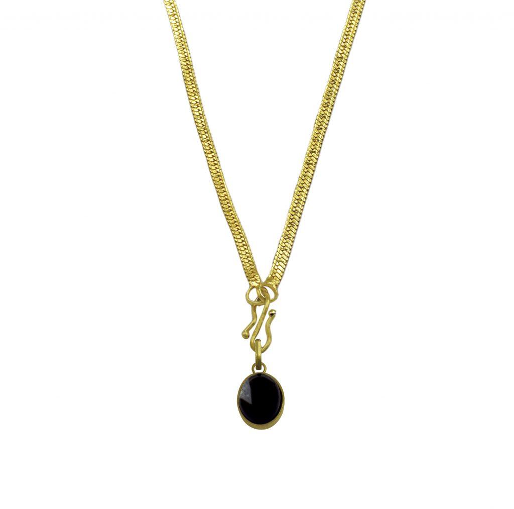 Black hakik locket