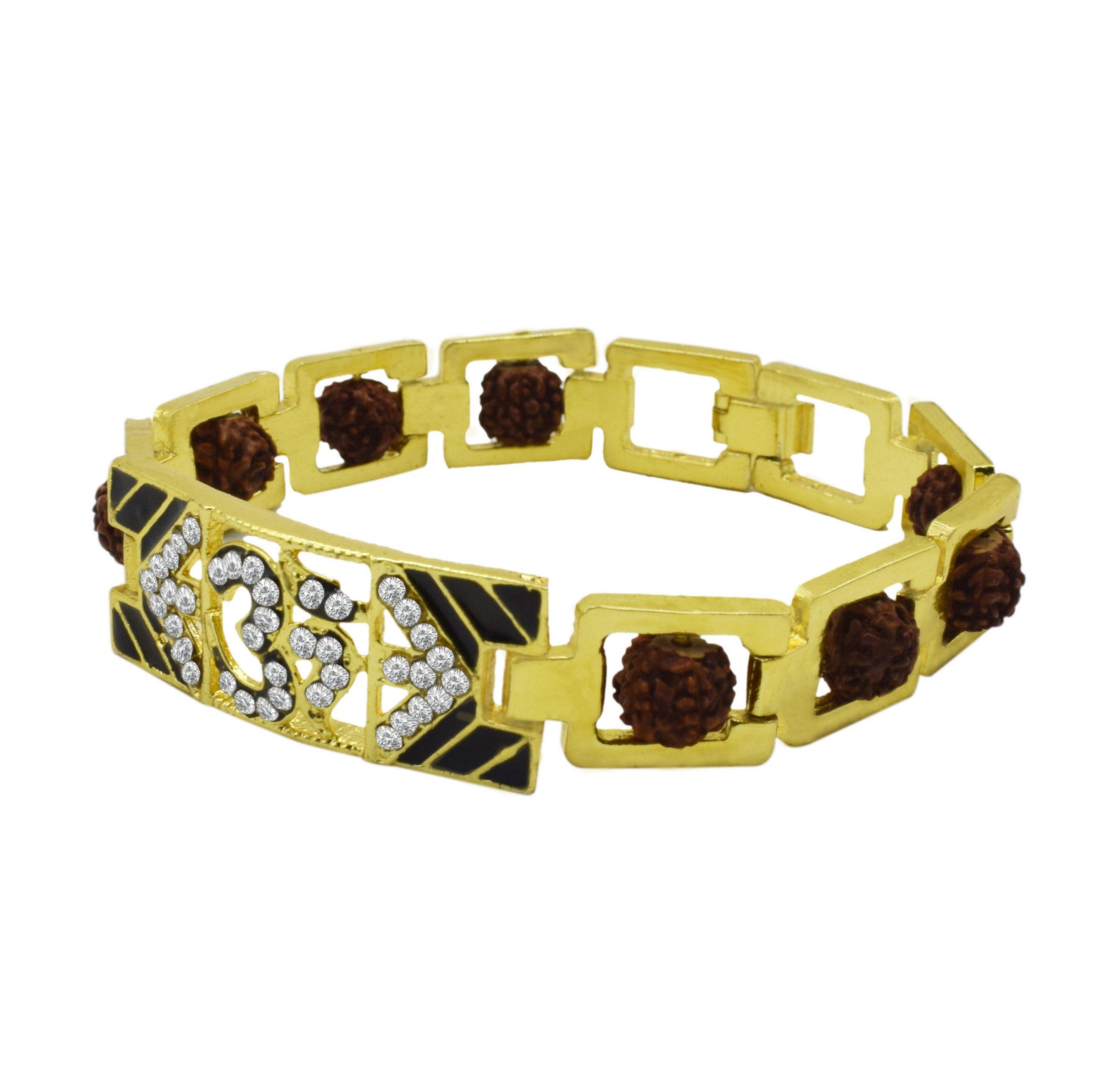 Buy Original Om Gold Bracelet With Rudraksha Online