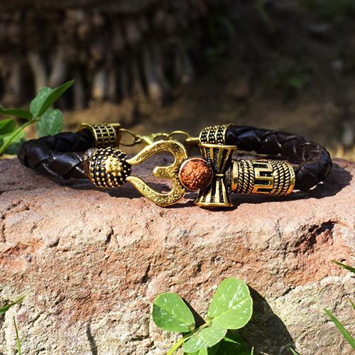 Om Shiv Trishul Rudraksha Bracelet