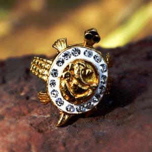 Ganesh + Meru Turtle(Kachua) Ring