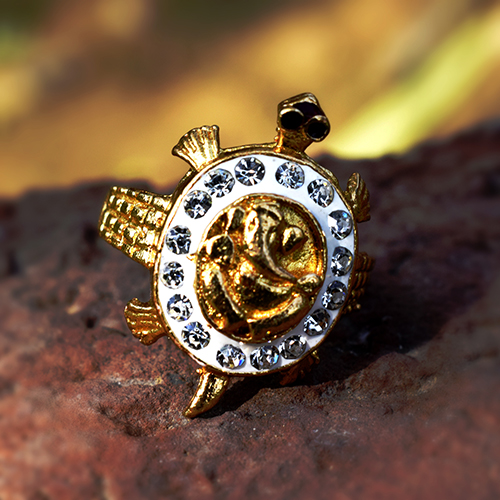 Buy Ganesh + Meru Turtle(Kachua) Ring
