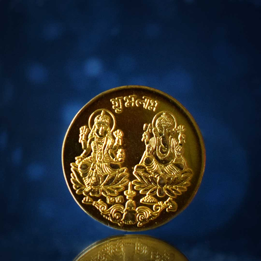 Buy Laxmi Coin Online with The Gold plated 100% Original