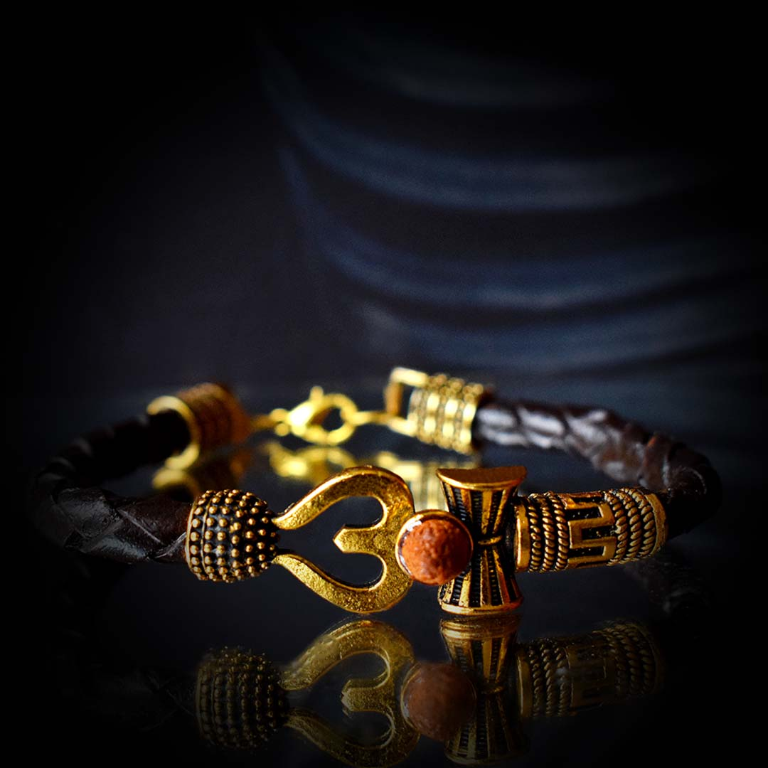 Buy Original Om With Lord Shiv Trishul Rudraksha Bracelet Online