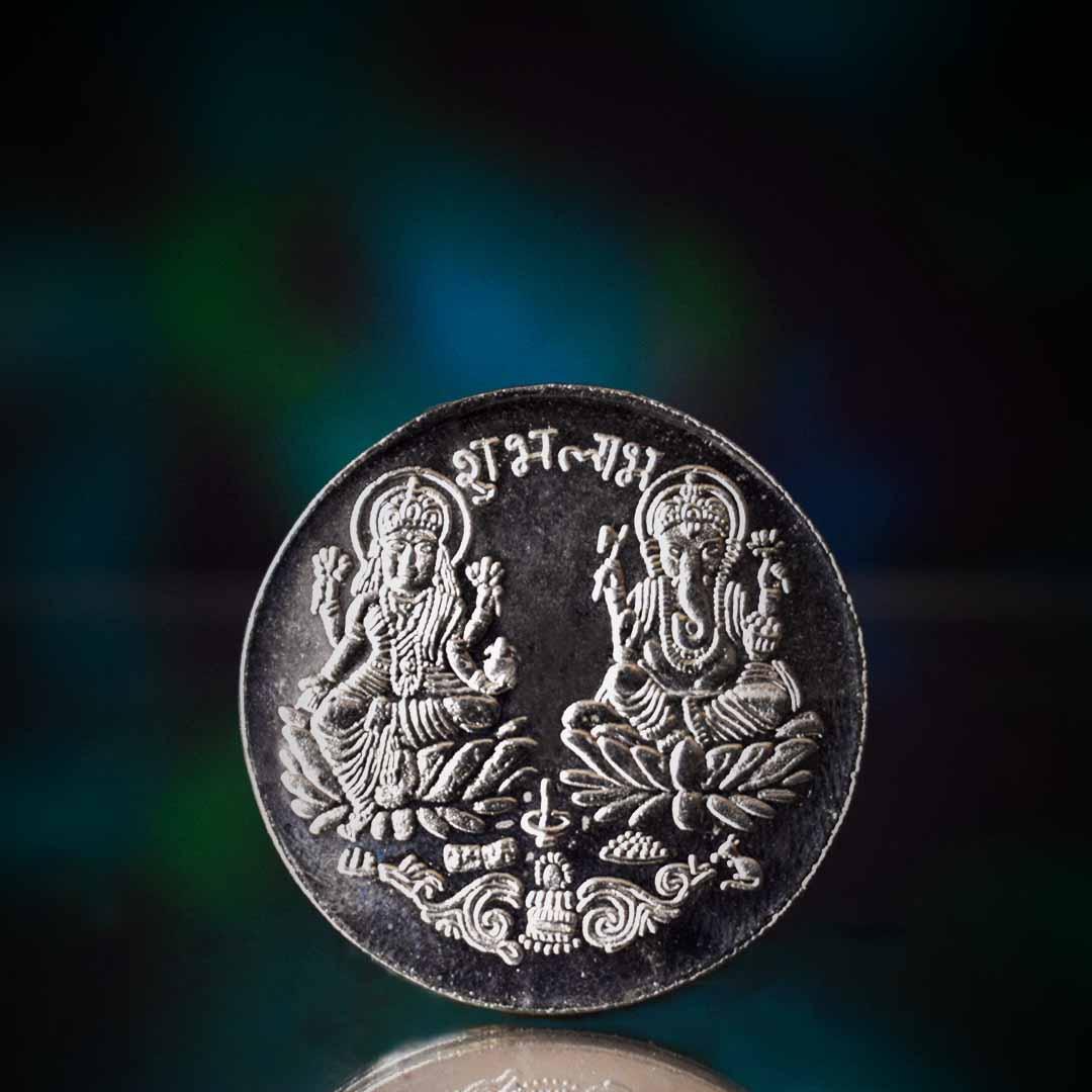 Buy Silver Laxmi Coin Online 100% Original
