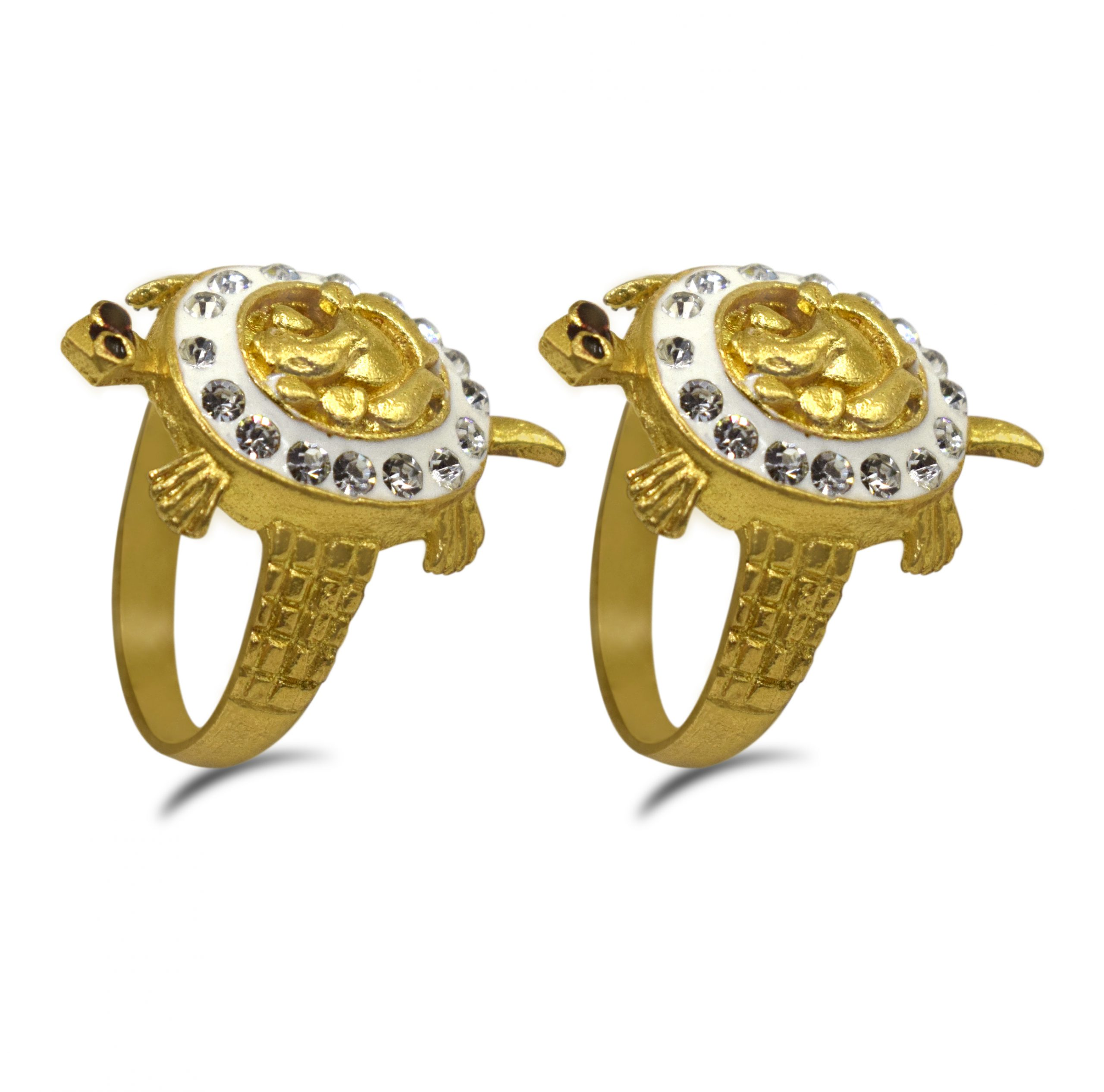 Buy Combo of Ganesh Meru Turtle(Kachua) Ring