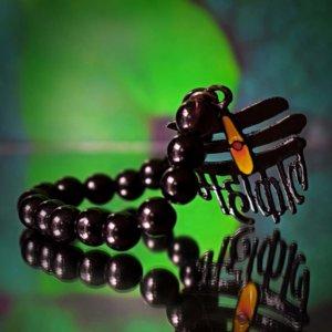 Handmade Black Beaded Mahakal Bracelet