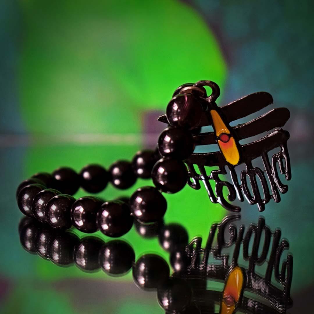 Buy Handmade Black Beaded Mahakal Bracelet Online