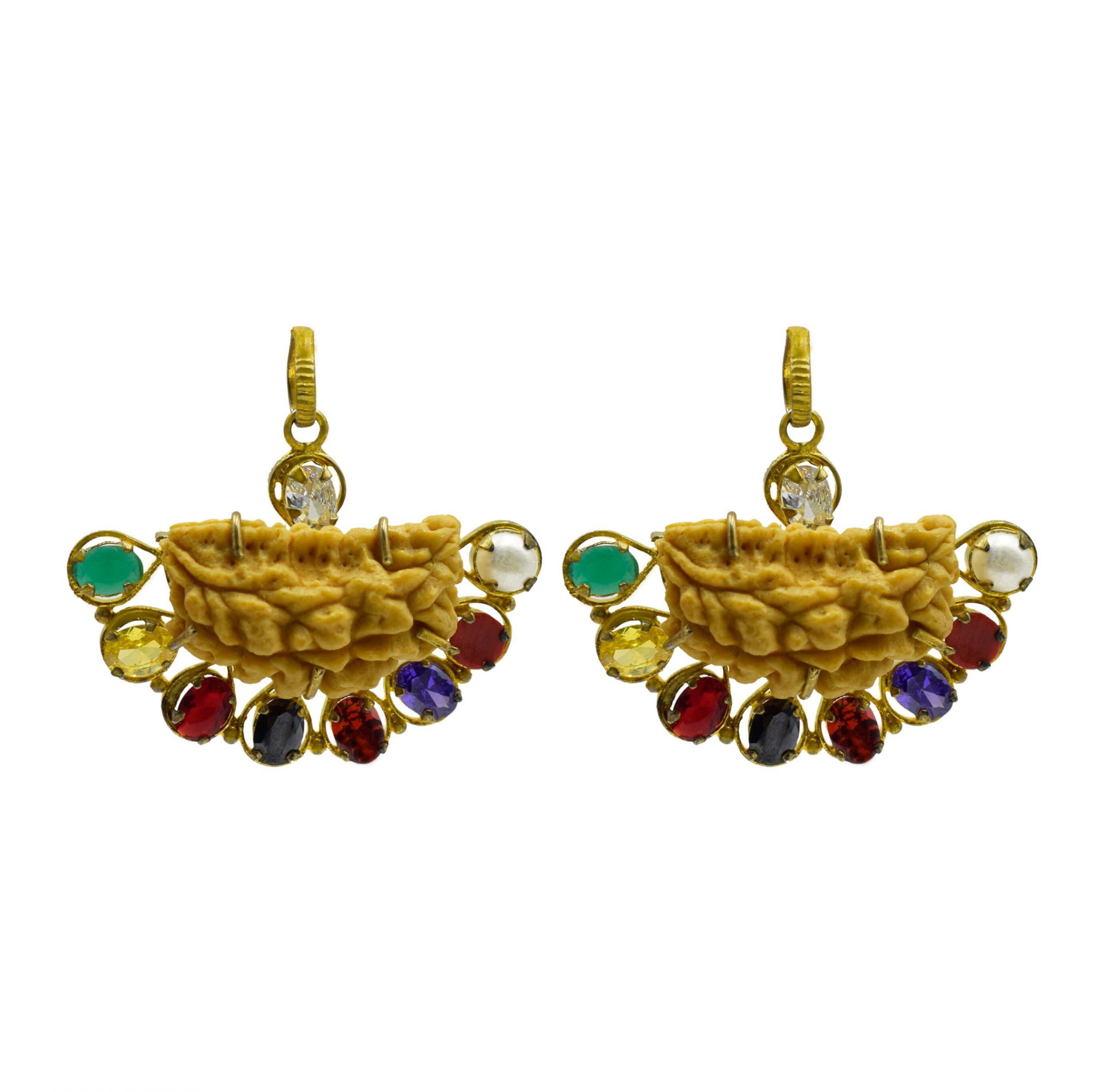Buy Online Combo of Navgrah Pendant With Rudraksha