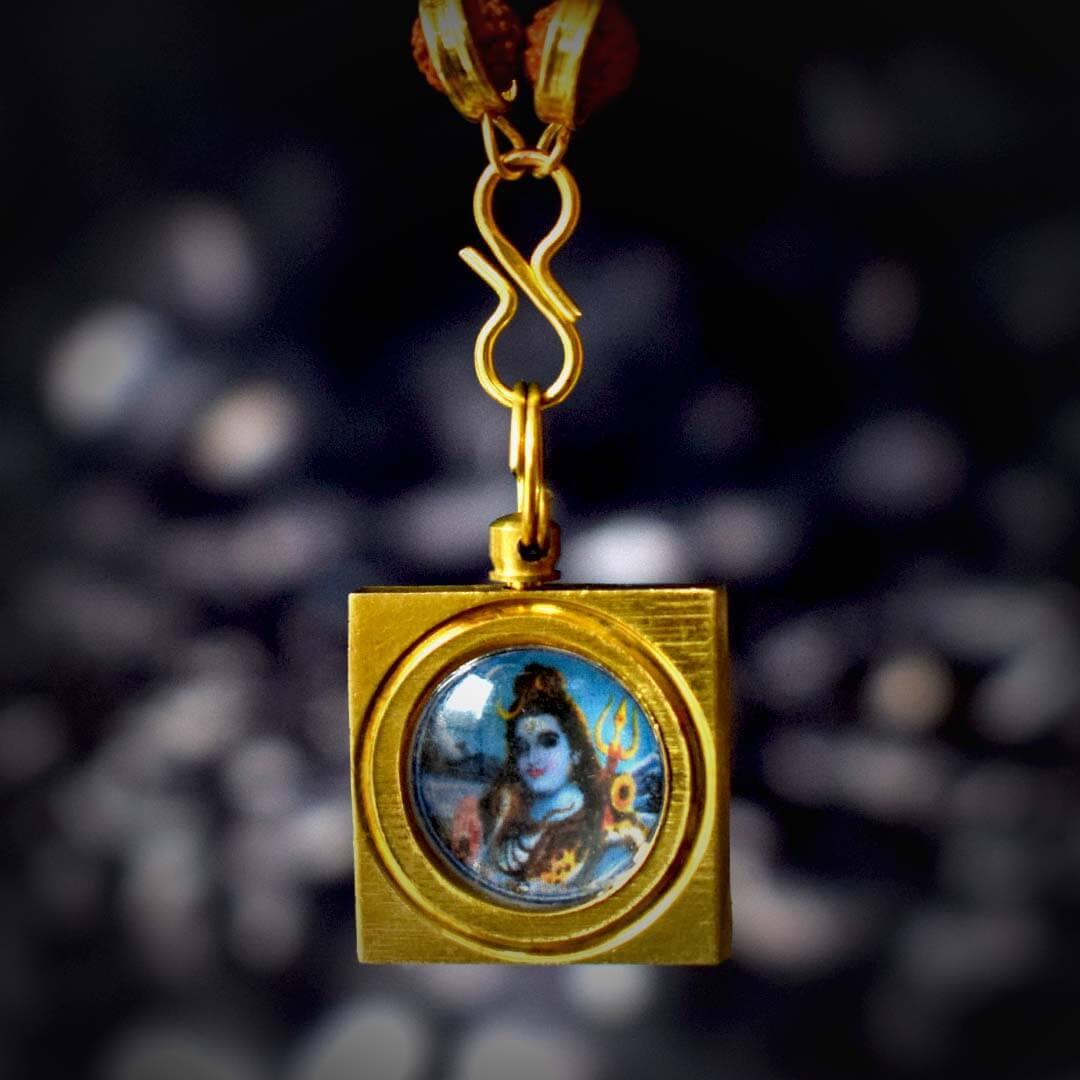 Maha Mrityunjay Kavach With Gold Capped Rudraksha Mala
