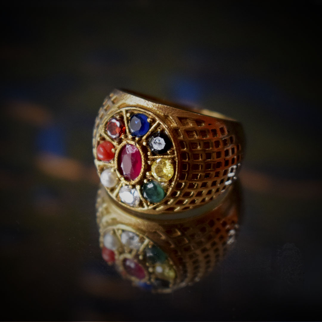 Buy Original Navratna Ring Heavy Online