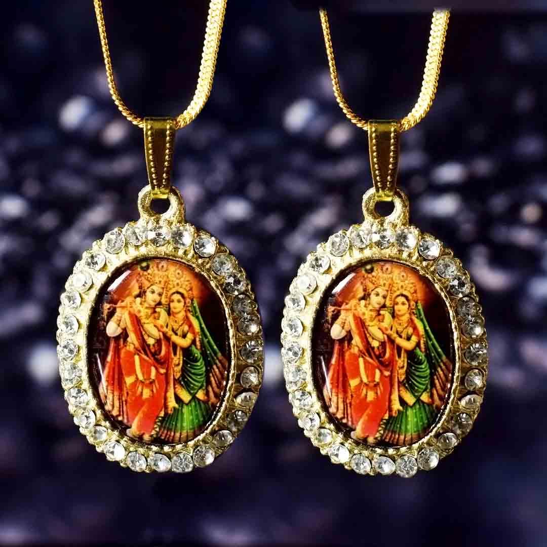 Buy Radha Krishna Pendant Online Combo Pack