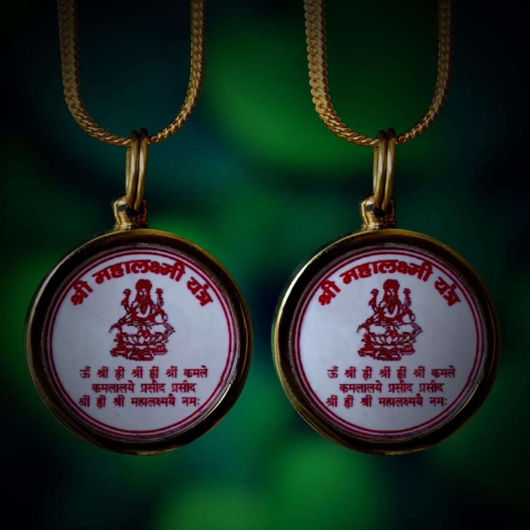 Buy Original Shree Mahalaxmi Yantra Locket Online Combo Pack