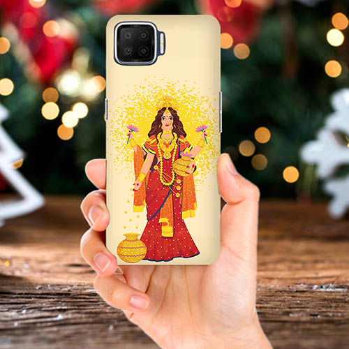 Maa Laxmi Mobile Phone Back Cover for Oppo F17 Pro
