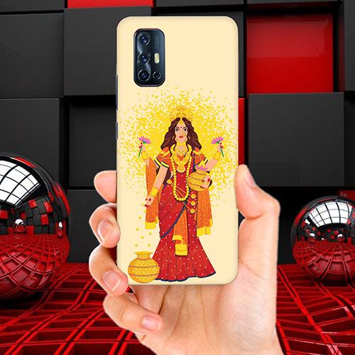 Maa Laxmi Mobile Phone Back Cover for Vivo V17