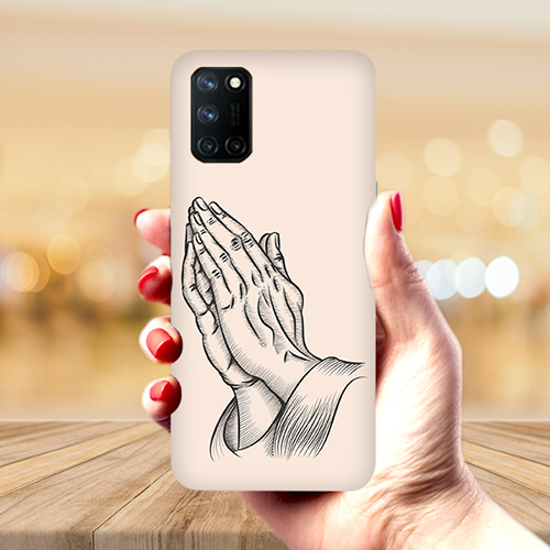 Prayer Sketch Mobile Phone Back Cover for Realme 7 Pro
