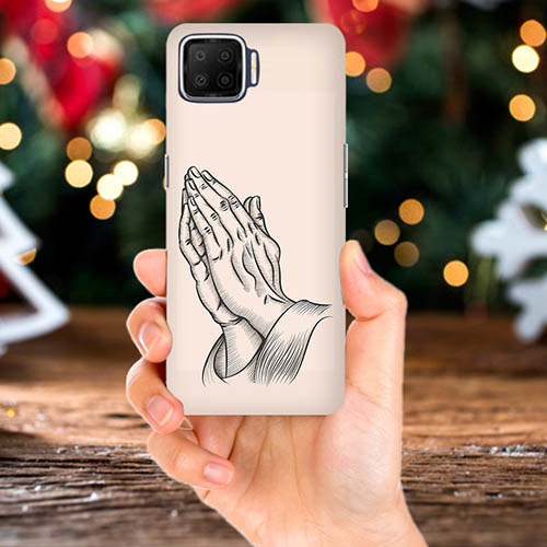 Prayer Sketch Mobile Phone Back Cover for Oppo F17