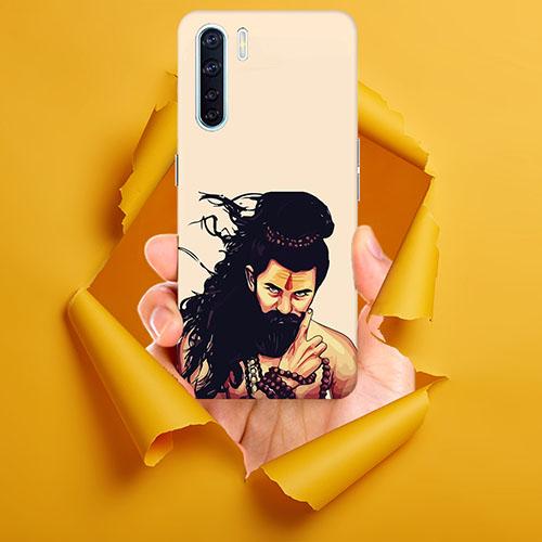 Bearded Mahadev Mobile Phone Back Cover for Oppo F15