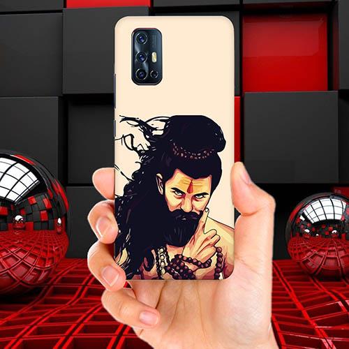 Bearded Mahadev Mobile Phone Back Cover for Vivo V17