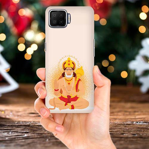 Bhakt Hanuman Mobile Phone Back Cover for Oppo F17