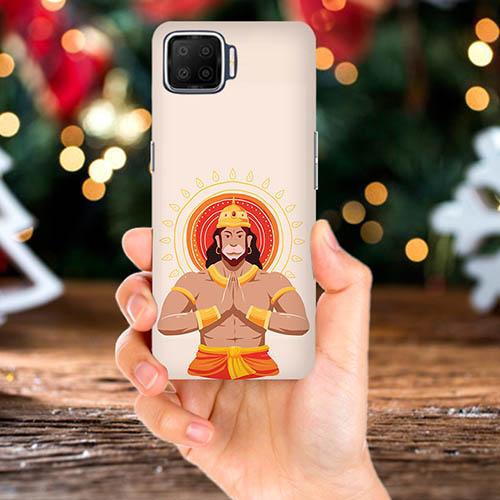 Jai Hanuman Mobile Phone Back Cover for Oppo F17