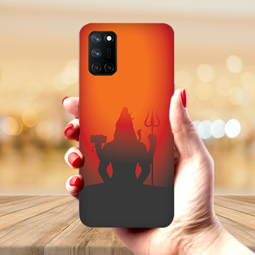 Mahadev Shadow in Sunset Mobile Phone Back Cover for Realme 7 Pro