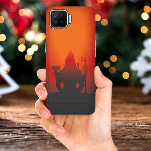 Mahadev Shadow in Sunset Mobile Phone Back Cover for Oppo F17 Pro