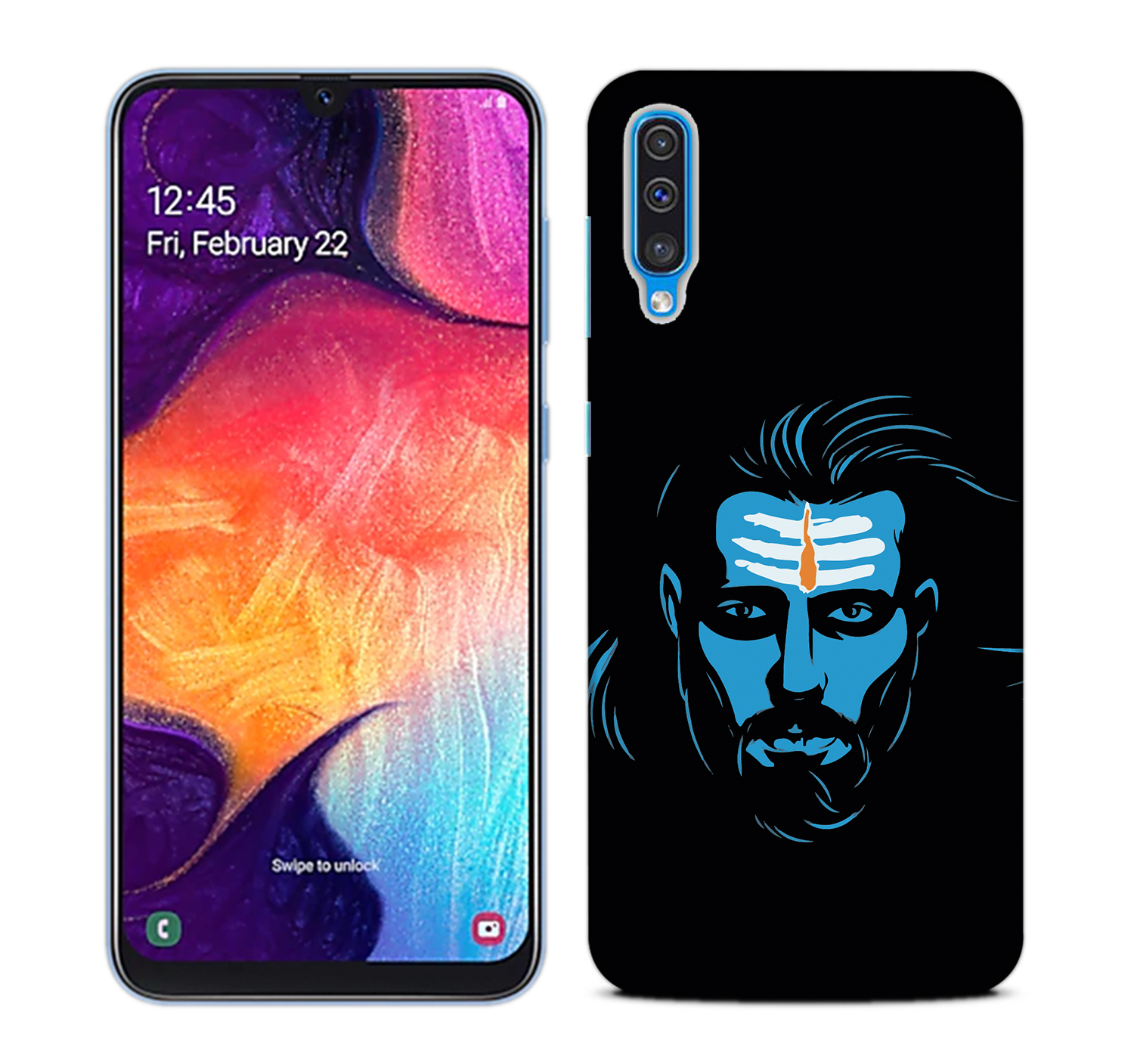 Mahadev Blue Mobile Phone Back Cover for Samsung Galaxy A50