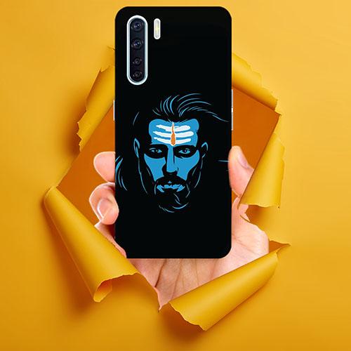Mahadev Blue Mobile Phone Back Cover for Oppo F15