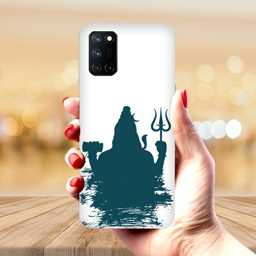 Shiva Blue Shadow Mobile Phone Back Cover for Realme 7 Pro
