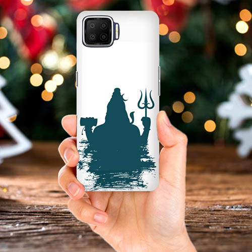 Shiva Blue Shadow Mobile Phone Back Cover for Oppo F17