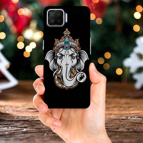 Ganesha Dark Phone Back Cover for Oppo F17 Pro