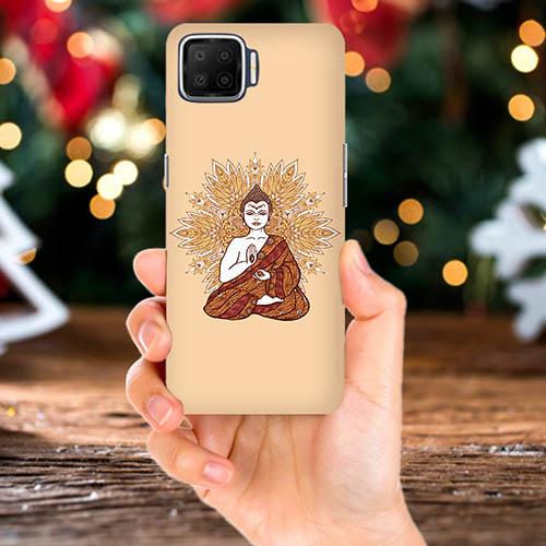 Meditating Budhha Mobile Phone Back Cover for Oppo F17