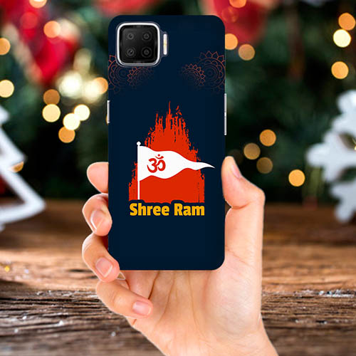 Shiv Ram Dhvaj Mobile Phone Back Cover for Oppo F17