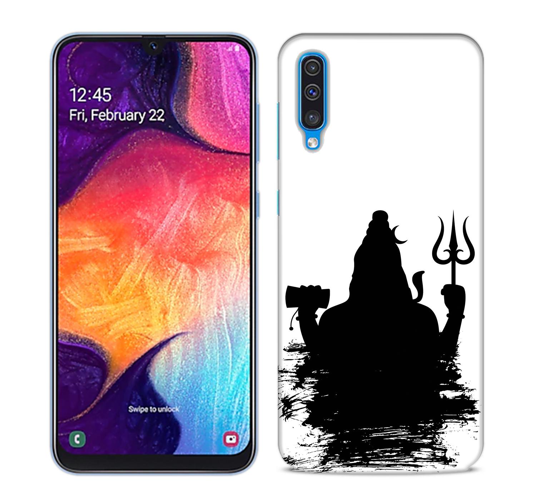 Mahadev Black Shadow Mobile Phone Back Cover for Samsung Galaxy A50