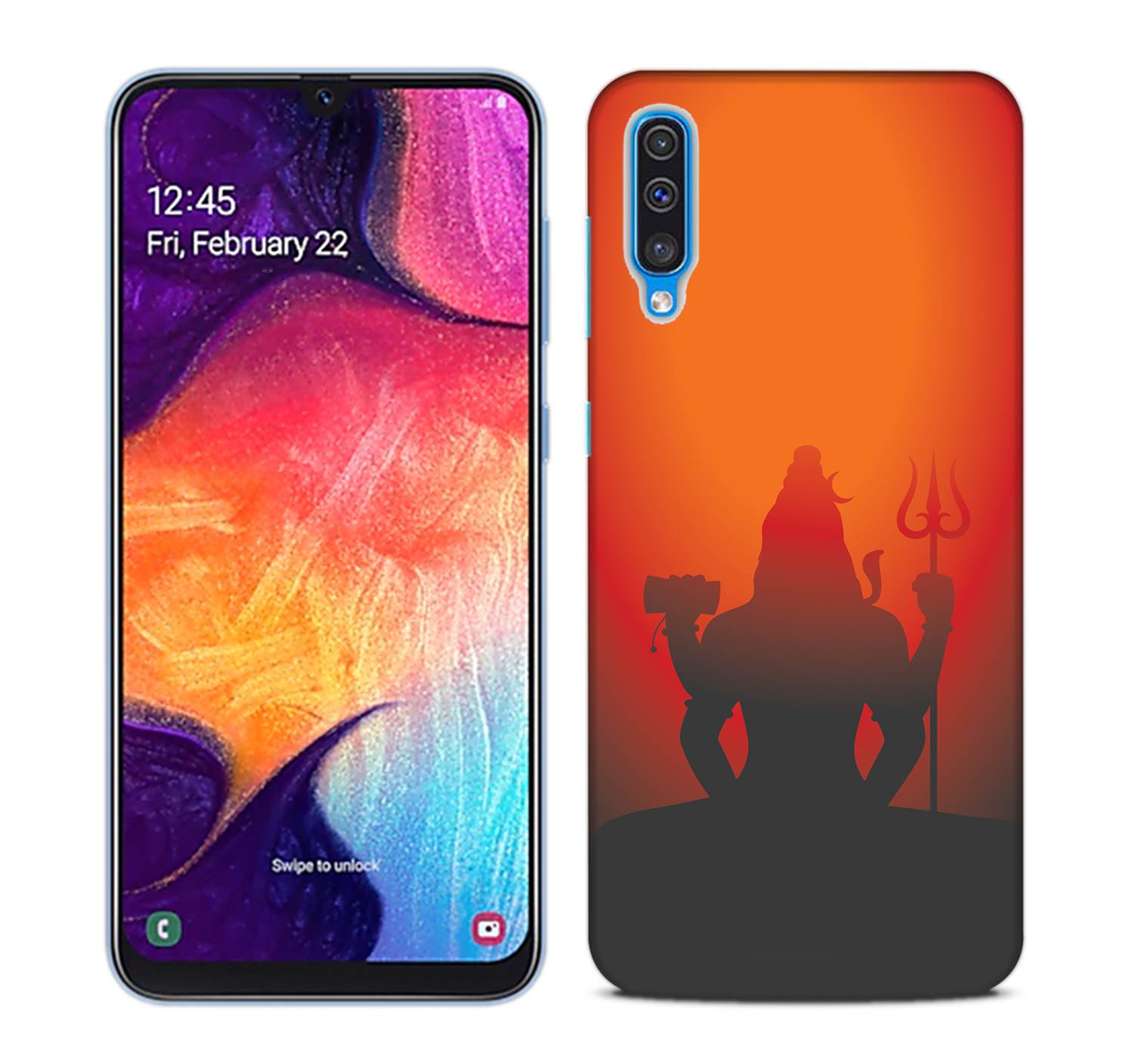 Mahadev Shadow in Sunset Mobile Phone Back Cover for Samsung Galaxy A50