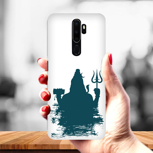 Shiva Blue Shadow Mobile Phone Cover for Oppo A9