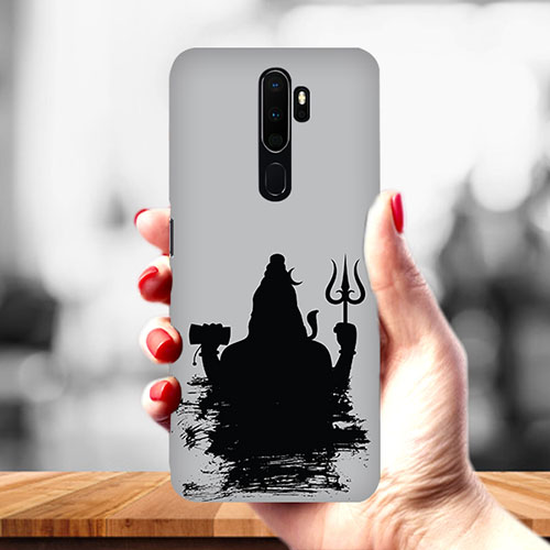 Shiva Black Shadow Mobile Phone Cover for Oppo A9