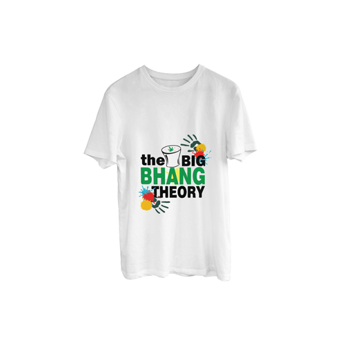 "Holi Special ""The Big Bhang Theory"" Printed T-Shirt"
