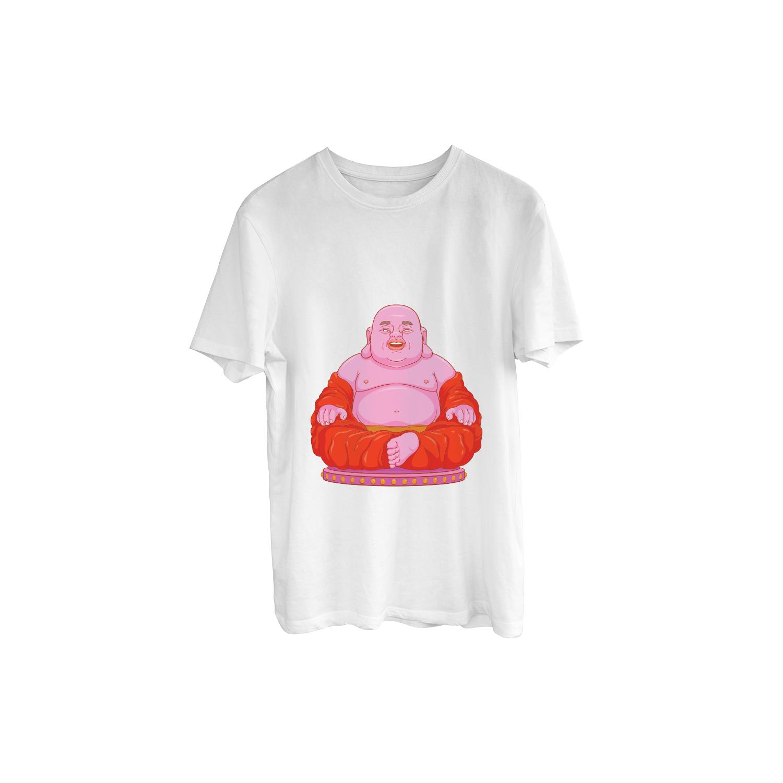 HD Laughing Buddha Print T-Shirt