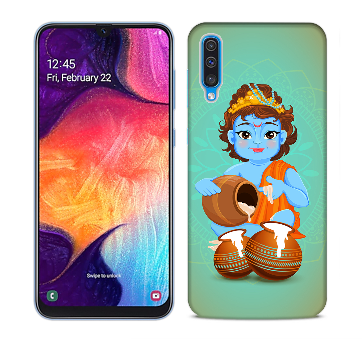 Kisna Makhanchor Mobile Phone Back Cover for Samsung Galaxy A50